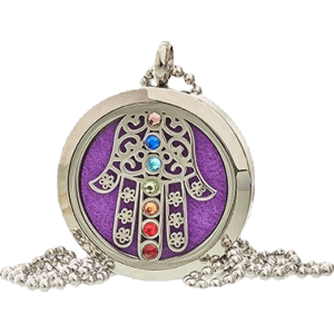 Hamsa Chakra Aromatherapy Jewellery Necklace - 30mm